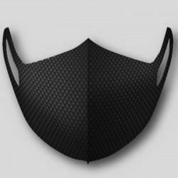 Masque noir effet soie tressée