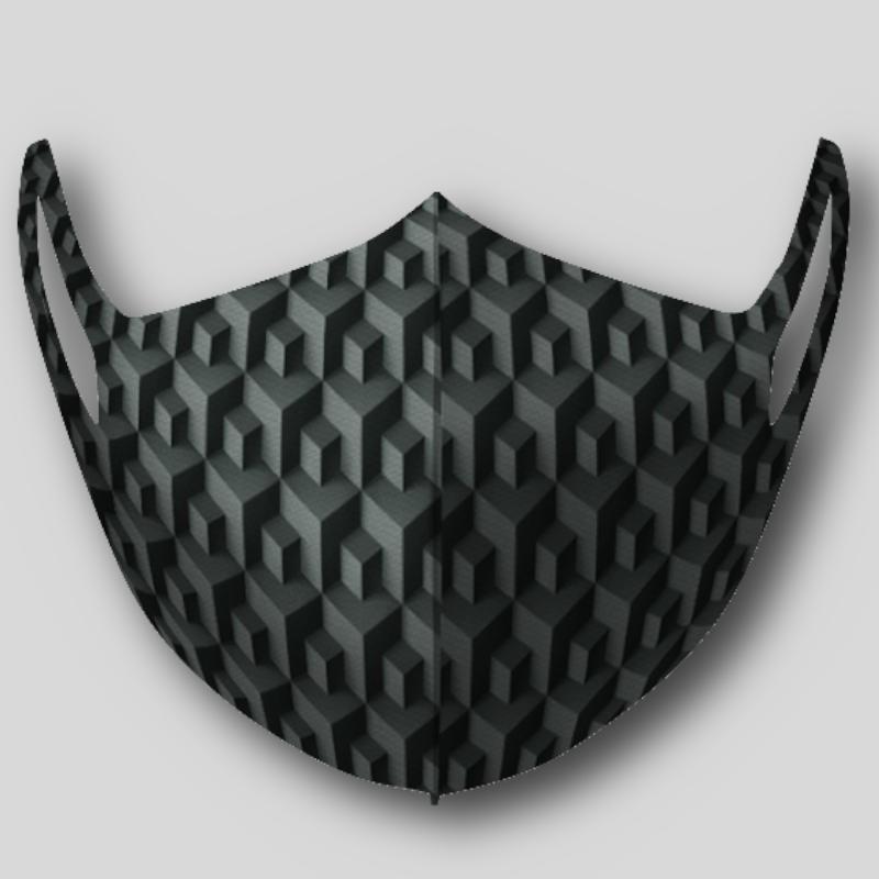 Masque illusion cube 3D