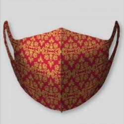 Masque lavable nanofibres motif rouge persan