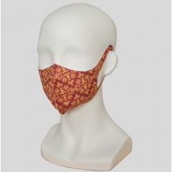Masque lavable naofibres motif rouge persan sur buste