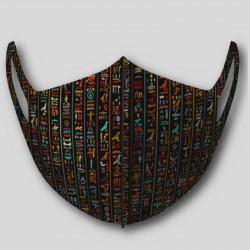 Masque nanofibres lavable hiéroglyphe égyptien